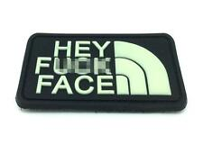 Hey F*** Face PVC Airsoft Patch Glow In The Dark