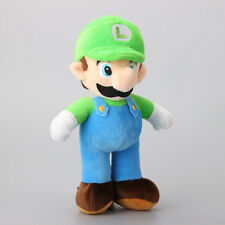 "Super Green Mario Bros.Stand  LUIGI 10"" Plush Doll Stuffed Toy"