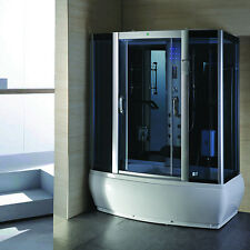Steam Enclosure Spa Sauna shower Whirlpool Touch Screen Computer Display  9007WS