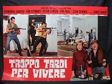 FOTOBUSTA CINEMA - TROPPO TARDI PER VIVERE - F. SANCHO - 1973 - GUERRA
