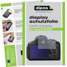 6x Canon EOS 600D Schutzfolie matt Displayschutzfolie Antireflex Testsieger