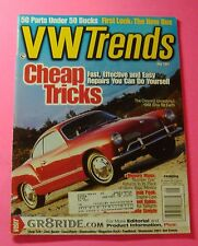 VW TRENDS MAGAZINE MAY/2001..FIRST LOOK THE NEW BUS..CLEANEST 1968 GHIA ON EARTH