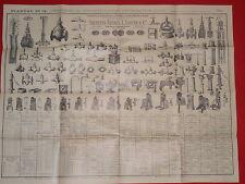 PLANCHE N°15 ROBINETS ET APPAREILS POUR DISTRIBUTION D'EAU THEVENIN FRERES 1904