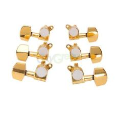 New Guitar Machine Head Set Tuner Pegs 3L+3R Gold