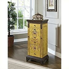 Masterpiece Antique Parchment Hand Painted Jewelry Armoire - Overpacked New