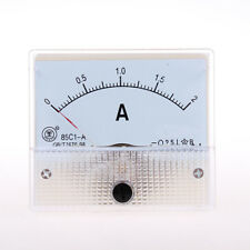 New DC 0-2A  Analog Panel AMP Current Meter Ammeter Gauge 85C1
