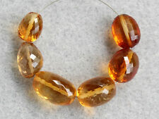 Natural Gold Citrine Faceted Nugget Oval Gemstone Beads