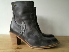 NEW WRANGLER LADIES GREY LEATHER ANKLE BOOTS UK4