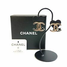 Authentic CHANEL Earrings cocomaku Silver Brass #3446