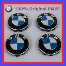 4x Original BMW Nabenabdeckung mit Chromrand für Alufelgen