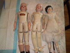 """3 Vintage China/porcelain Head Dolls- Large 19"""""""