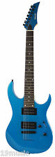 BERLIN Quincy 7 string electric guitar BLUE metal Stockport Showroom