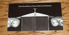 Original 1980 Rolls Royce Foldout Sales Brochure 80 Silver Wraith Corniche