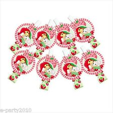 STRAWBERRY SHORTCAKE DOLLS BLOWOUTS (8) ~ Birthday Party Supplies Favors Horns