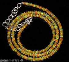 """1 stand bead Necklace 3to6 mm 16"""" Beads Natural Genuine Ethiopian Welo Fire Opal"""