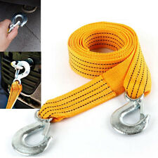 3M 3T Tow Cable Towing Pull Rope Snatch Strap Heavy Duty Road Recovery Car 877