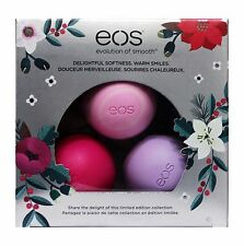 EOS 3pc Lip Balm Sphere Set DELIGHTFUL SOFTNESS Limited Edition HOLIDAY (Boxed)