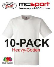 "T-Shirt Fruit of the Loom 10 - Pack Heavy Cotton ""TOP""  Farbe weiß Größe: XL"