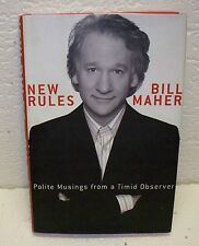 New Rules Polite Musings from a Timid Observer by Bill Maher Hardback Book OOP