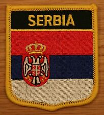 SERBIA Serbian Shield Country Flag Embroidered PATCH Badge P1