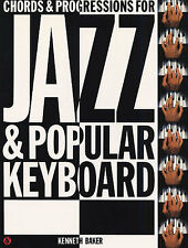 Chords & Progressions for Jazz Popular Keyboard Learn Organ Piano Music Book