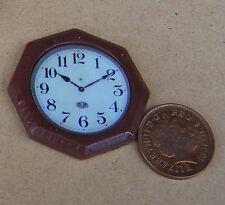 1.12 non travail octogonale ornementales Horloge murale maison de poupées accessoire miniature