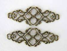 Antiqued Brass Ox Filigree Bar Connector Bracelet Blank 45mm flg0067