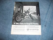 1988 Harley-Davidson Sportster 883 Vintage Ad Harley Can Change Your Priorities