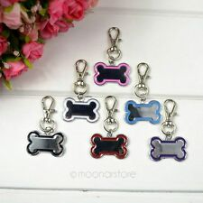 Personalised Bone Shaped DOG PET TAG PERSONALIZED ID DOG CAT CHARM TAGS