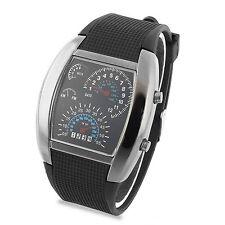 Herren Matrix Blau Watch Binär StylIsche Armbanduhr Best Geschenk Uhr