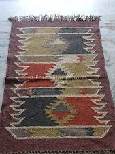 Kilim Rug Hand Woven Runner Oriental Area Rug 2x3 Floor Carpet Kelim Jute Rug
