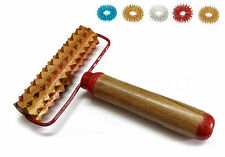 Acupressure Pyramidal Energy Mega Wooden Hand Roller Body Massager with Handle