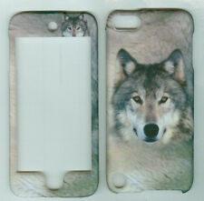 white wolf  Hard case snap on Cover apple iPOD TOUCH 5 5th Generation
