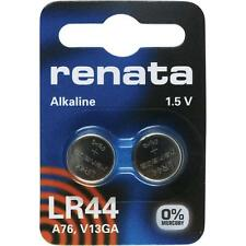 LR44 (A76, V13GA) Coin Battery Pack x 2 / Alkaline 1.5V / for Watches Car Keys