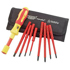 DRAPER EXPERT ERGO PLUS 9 PIECE INTERCHANGEABLE VDE TORQUE SCREWDRIVER SET 65372