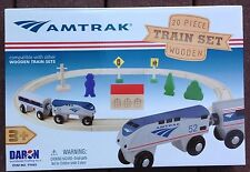 Daron Amtrak 20 Piece Wooden Train Set TY045