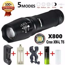 5000 Lumens G700 LED Flashlight X800 Military Lumitact Torch + Battery + Charger