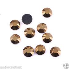 1000pz Oro Metallico 5mm ss20 Retro Piatto Resina Strass Decorazione Gemme