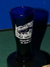 COBALT BLUE SHOOTER SHOT GLASS TIMBERLAND LODGE MOUNT HOOD OREGON