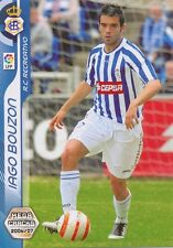 N°256 IAGO BOUZON AMOEDO # RC.RECREATIVO CARD PANINI MEGA CRACKS LIGA 2007