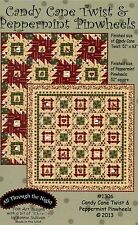 CANDY CANE TWIST & PEPPERMINT PINWHEEL QUILT PATTERNS, By All Through The Night
