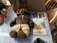 Boyds Bears, Sebastian, Bear Adventure Passport  Suitcase Bear. Never Displayed