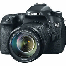 Canon EOS 70D DSLR Camera w/ 18-135mm STM f/3.5-5.6 Lens
