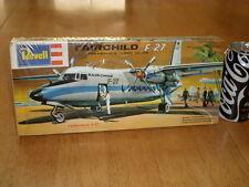 FAIRCHILD F-27, TRANSPORT TURBO COMMERCIAL AIRLINER PLANE, PLASTIC MODEL KIT