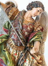 NIB ST SAINT MICHAEL THE ARCHANGEL CATHOLIC RELIGIOUS STATUE - EXQUISITE!