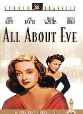 All About Eve (DVD, 2003, Studio Classics) w/ slip case - New Sealed