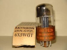 Raytheon 6X5W GT Vacuum Tube Strong & Balanced Results= 2160/2080