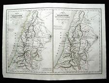 1847cFROM DELAMARCHE ATLAS:CARTE DELLA PALESTINA TEMPI BABILONIA E VULGAIRE.ETNA