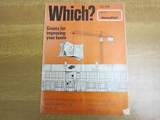 July 1976, WHICH MAGAZINE, Binoculars, Gas Cookers, Fridge/Freezers, Home Grants