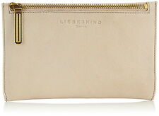 Liebeskind Kiwi Luxury Leather Zip Pouch Wallet Cosmetic Bag Case Powder Rose